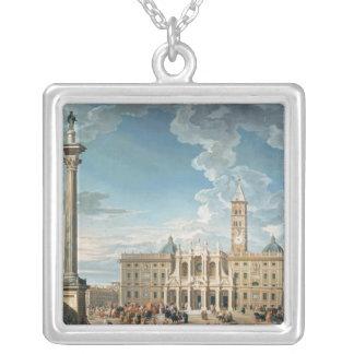 Piazzaen Santa Maria Maggiore, 1752 Silverpläterat Halsband