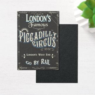 Piccadilly cirkusLondon vintage affisch Visitkort