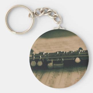 piccolo flöjt 1839 rund nyckelring