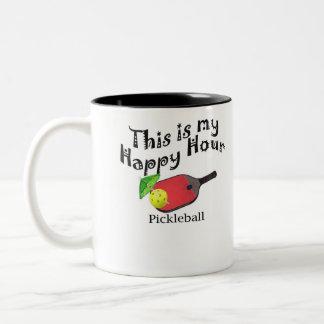 Pickleball: Denna är min lyckliga timme Två-Tonad Mugg