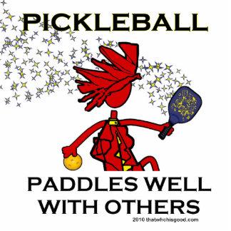Pickleball paddlar väl med andra acrylic cut out