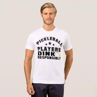 Pickleball spelare Dink ansvarigt Tee Shirt