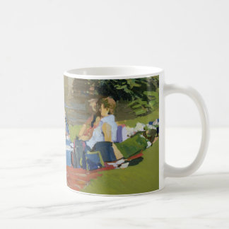 Picknick vid floden Withypool Kaffemugg