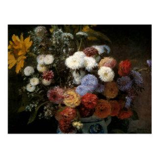 Pierre-Auguste Renoir blommor i en vas (1869) Vykort