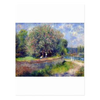 Pierre-Auguste Renoir kastanjträd Vykort