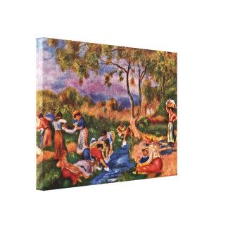 Pierre-Auguste Renoir - laundresses Canvastryck