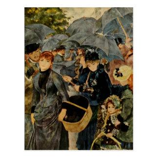 Pierre-Auguste Renoir paraplyer (1883) Vykort