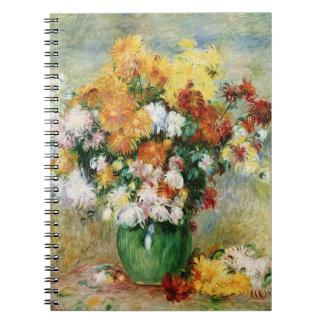 Pierre en Renoir | bukett av Chrysanthemums Anteckningsbok