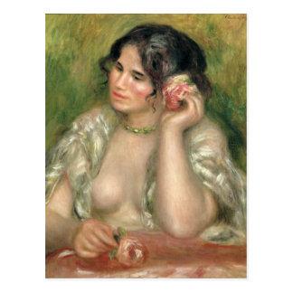 Pierre en Renoir | Gabrielle med en ro Vykort