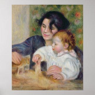 Pierre en Renoir | Gabrielle och Jean Poster
