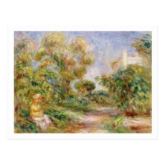 Pierre en Renoir | kvinna i en landskap Vykort