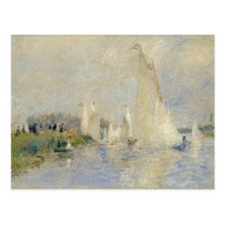Pierre en Renoir   Regatta på Argenteuil Vykort
