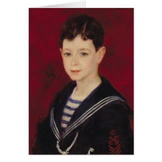 Pierre ett Renoir   porträtt av Fernand Halphen Hälsningskort