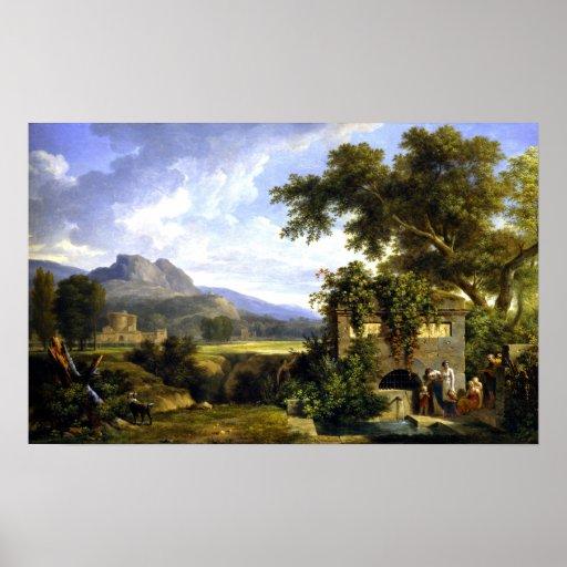 Pierre-Henri de klassiska Valenciennes landskap Poster