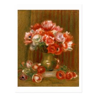 Pierre Renoir en | anemoner Vykort