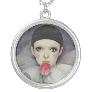 Pierrot 80-tal halsband med rund hängsmycke