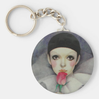 Pierrot 80-tal rund nyckelring