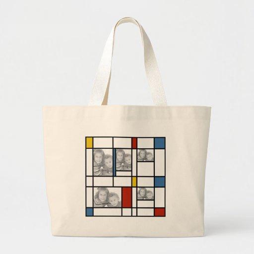Piet hänger lös den Mondrian inspirerade fotomalle Tote Bag