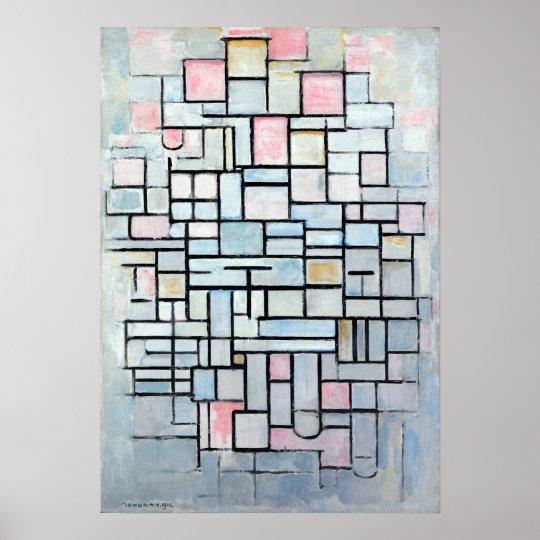 Piet Mondriaan sammansättningsinte dropp Poster