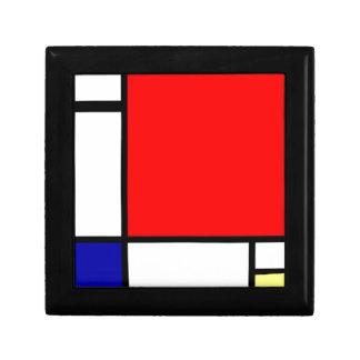 Piet Mondrian - Neoplastic konst Smyckeskrin