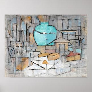 Piet Mondrian stilleben med Gingerpot II Poster
