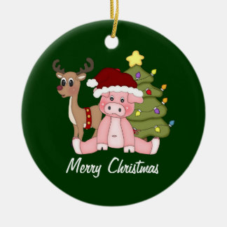 Piggy god julprydnad julgransprydnad keramik