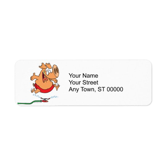 piggy gris för gullig sommarsprinkler returadress etikett