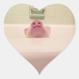 Piggy näsklistermärkepacke hjärtformat klistermärke
