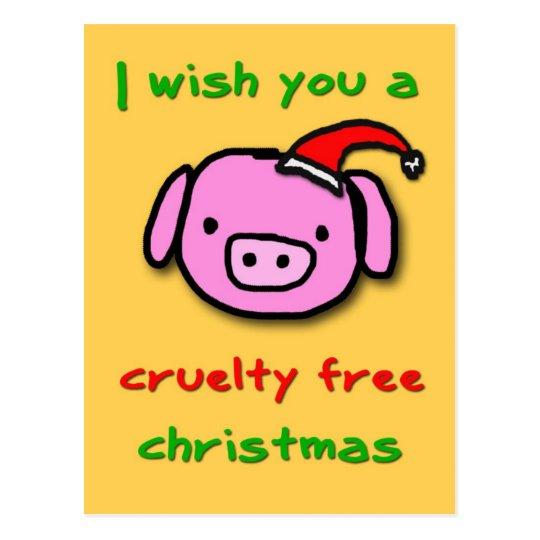 Piggy xmas vykort