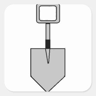 Pik! ((stort) spadesymbol) fyrkantigt klistermärke