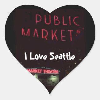 Pikes förlägger marknadsför på Nite Hjärtformat Klistermärke