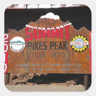 Pikes maximala toppmöte, Colorado Fyrkantigt Klistermärke