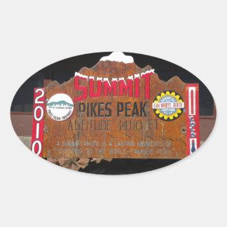 Pikes maximala toppmöte, Colorado Ovalt Klistermärke