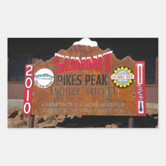 Pikes maximala toppmöte, Colorado Rektangulärt Klistermärke