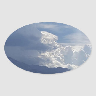 Pikes moln ovalt klistermärke