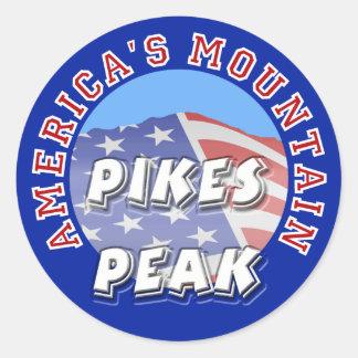 Pikes nå en höjdpunkt Amerika berg Runt Klistermärke