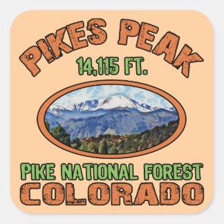 Pikes nå en höjdpunkt, Colorado Fyrkantigt Klistermärke