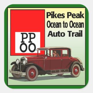Pikes nå en höjdpunkt hav till den Auto slingan Fyrkantigt Klistermärke