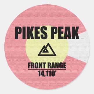 Pikes nå en höjdpunkt runt klistermärke