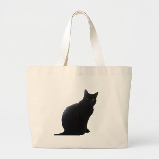Pil den svart katten jumbo tygkasse