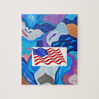 Pilamerikanska flaggan pussel