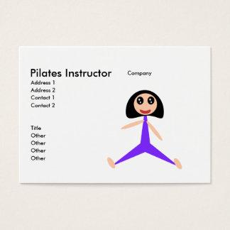 Pilates instruktör visitkort
