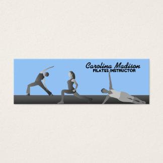 Pilates instruktörvisitkortar färgar som kan litet visitkort