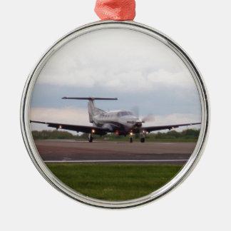 Pilatus PC 12 Julgransprydnad Metall