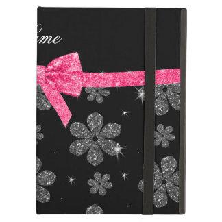 Pilbåge för rosor för blommor för glitter för iPad air fodral