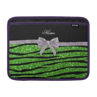 Pilbåge för silver för zebra ränder för glitter sleeve för MacBook air