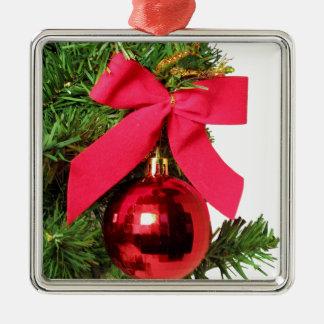 Pilbåge och prydnad för jul röd julgransprydnad metall