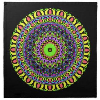 PilMandala - neon 1 Tygservett