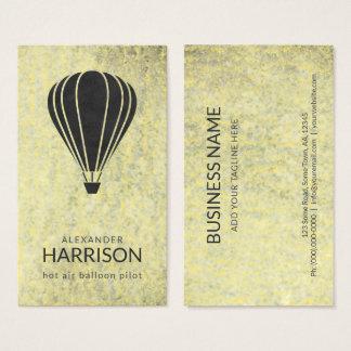Pilot- ballongfarare för kall vintageluftballong visitkort