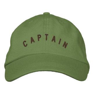 Pilot- hatt för kapten broderad keps